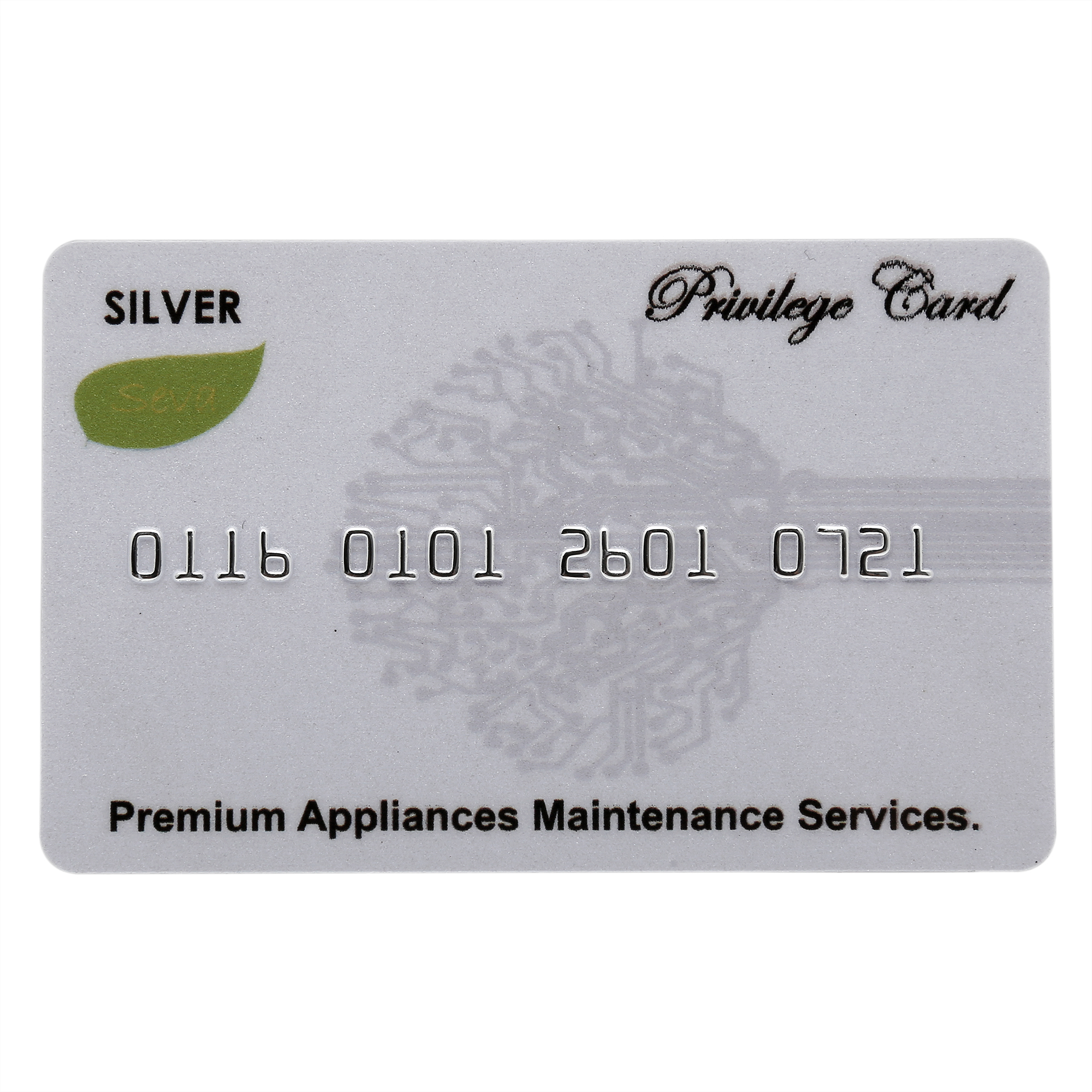 Premium Extended Warranty Card - Silver