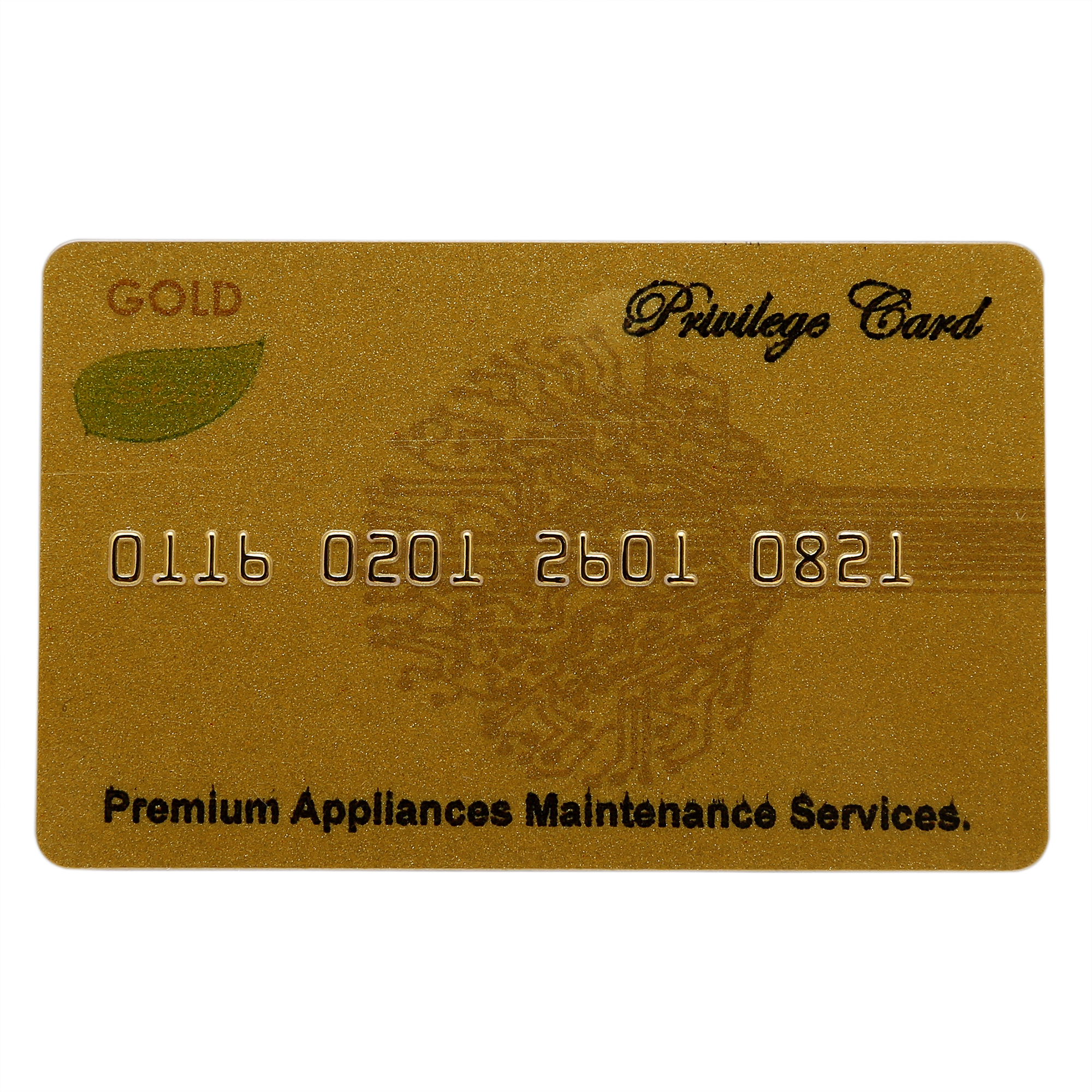 Premium Extended Warranty Card - Gold