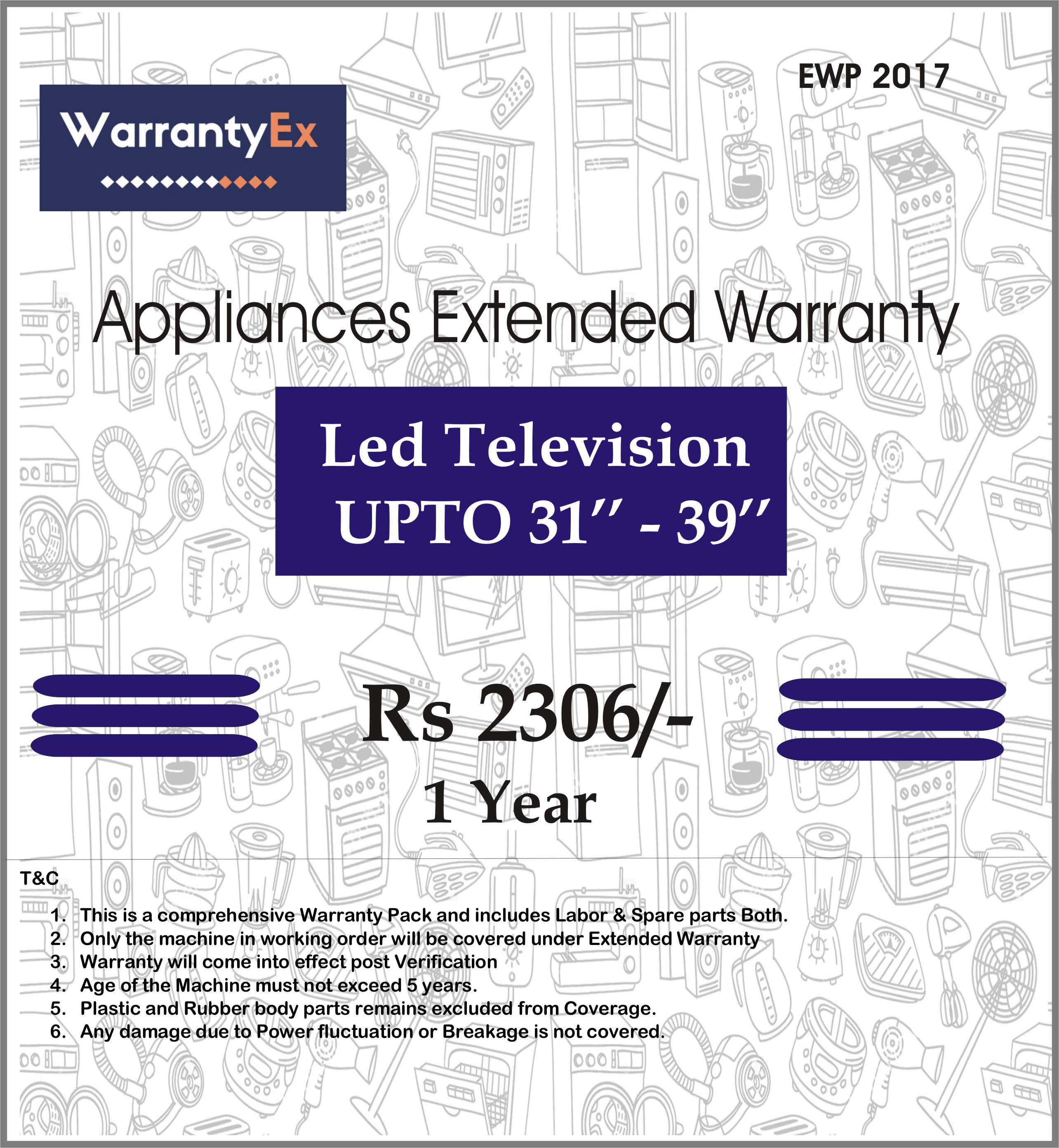 "Extended Warranty for LED 31""-39"""