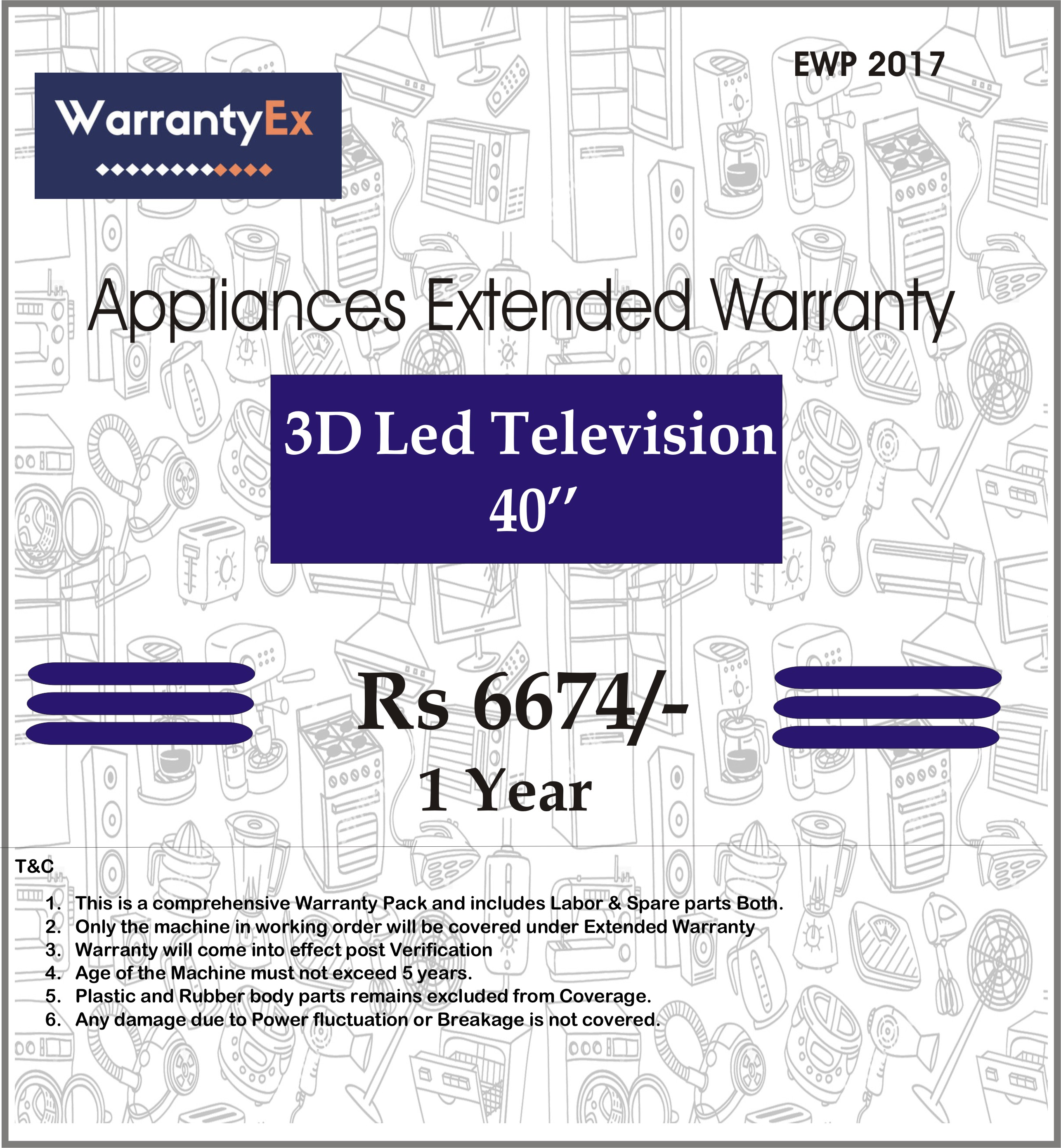 Extended Warranty for 3D LED 40""