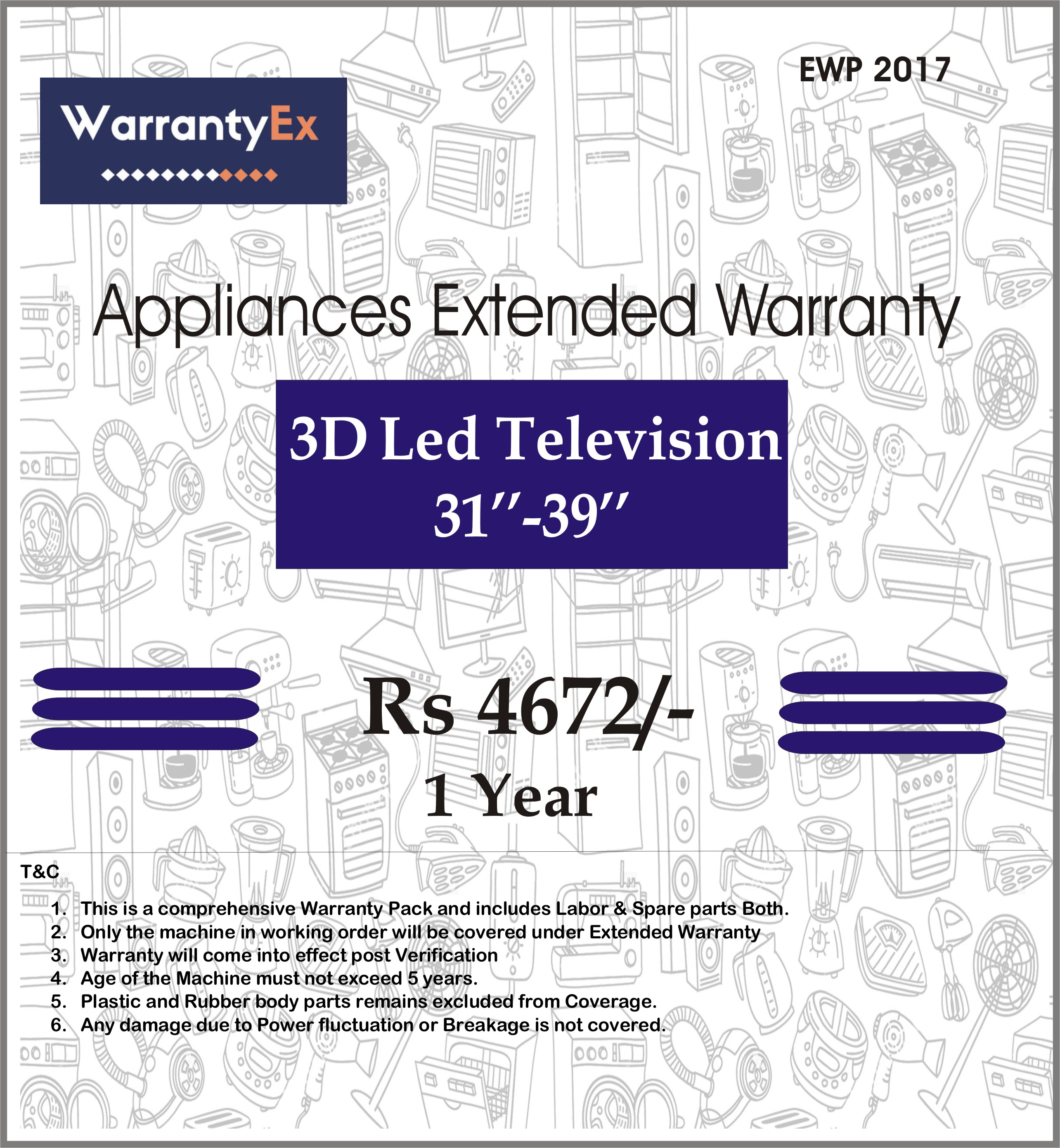 "Extended Warranty for 3D LED 31""-39"""