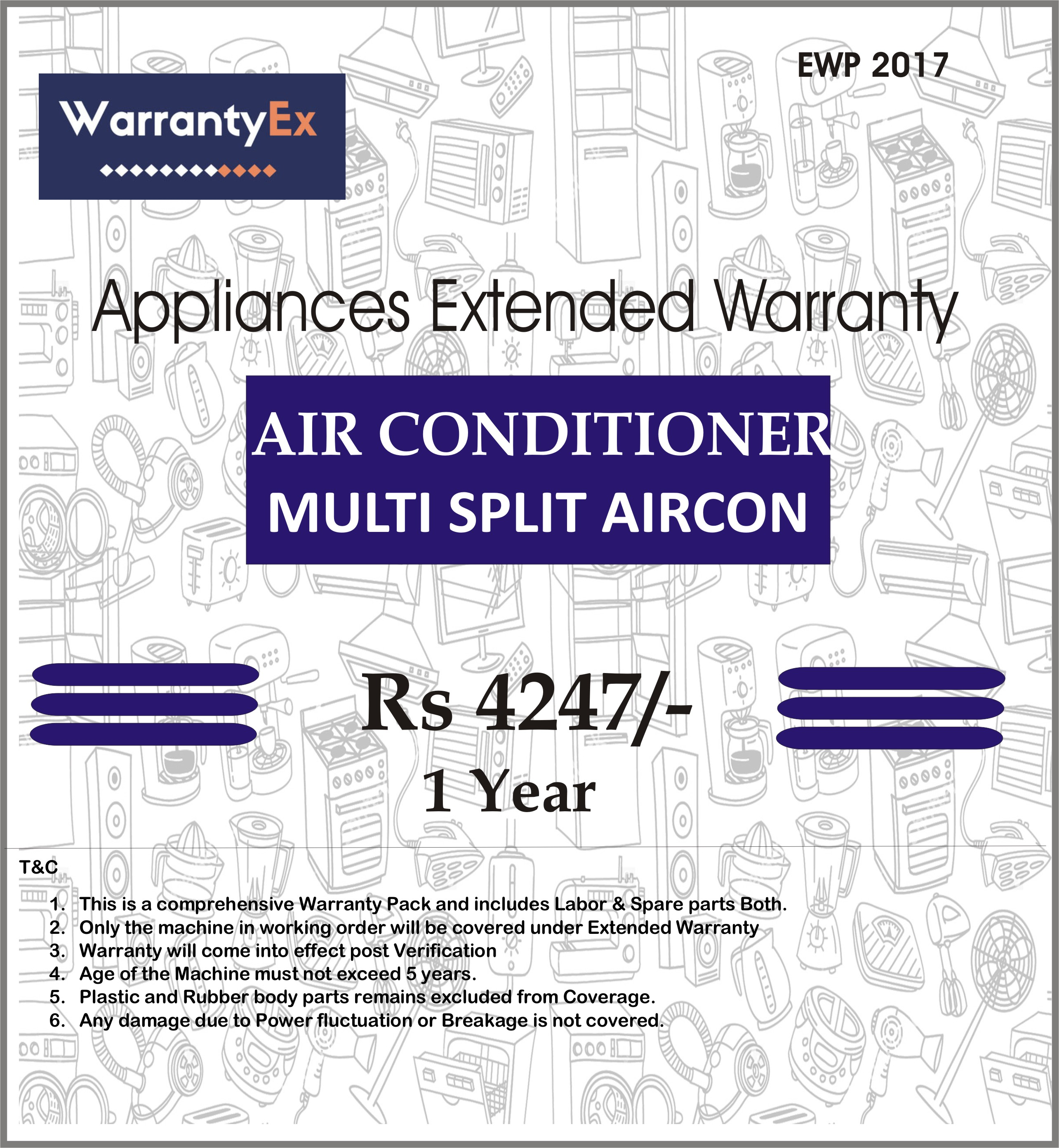 Extended Warranty for Air Conditioner Split Aircon