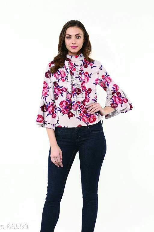 Bell Sleeves Frill Tops
