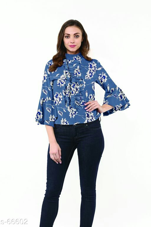 Bell Sleeve Frill Top